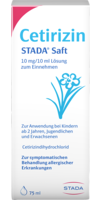 CETIRIZIN STADA Saft 10 mg/10 ml