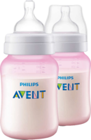 AVENT Flasche 260 ml Doppelpackung pink